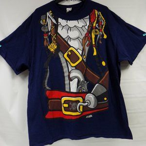 Pirate Costume Graphic Front T-Shirt Size 2XL